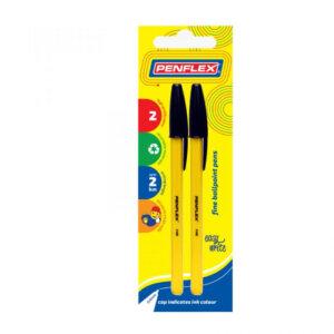 Ballpoint Pen Fine Tip Card of 2 Black