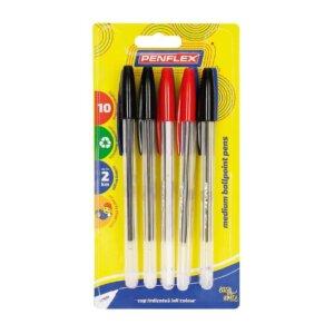Ballpoint Pen Medium Tip 10 Card Assorted