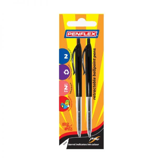 Pulse Retractable Ballpoint Pen Card of 2
