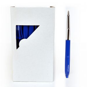 Pulse Retractable Ballpoint Box of-50 Blue