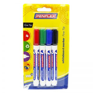 WB13 Whiteboard Marker Fine Tip 4 Card