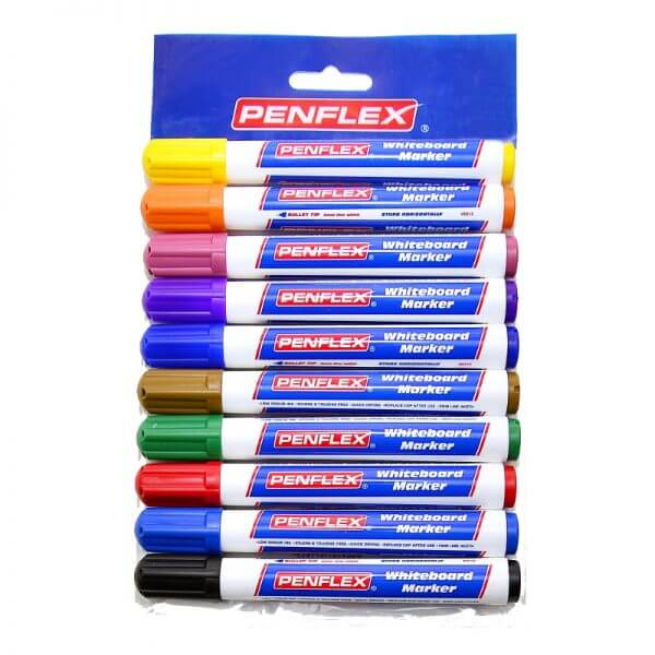WB15 Whiteboard Marker Pouch of 10 - Assorted